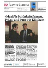 Medienbericht in der Berner Zeitung BZ, Region Oberaargau - WVO