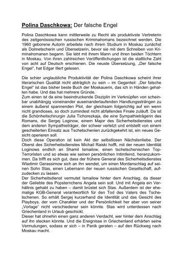 Polina Daschkowa: Der falsche Engel - Edgar Illert