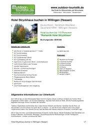 Hotel Stryckhaus buchen in Willingen (Hessen) - Outdoor-Touristik