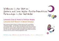 Letoonia Club & Hotel in Fethiye-Mugla Letoonia Golf Resort in ...