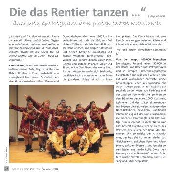 "Die das Rentier tanzen …""(c) Birgit WEHNERT"