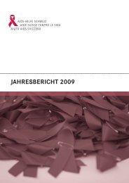 zahlen zum jahresbericht 2009 - Aids-Hilfe Schweiz