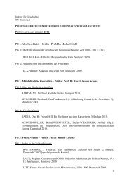Prüfungsgebiete und Prüfer für das Erste Staatsexamen im