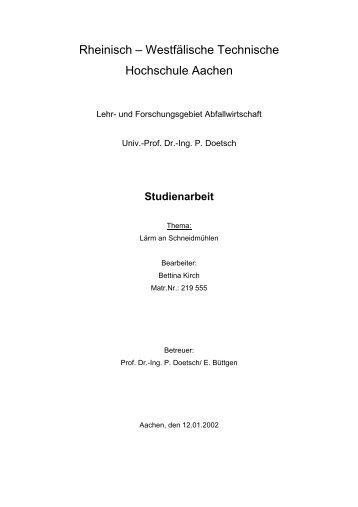 Rheinisch – Westfälische Technische Hochschule Aachen
