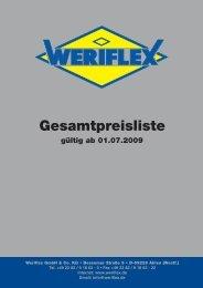 Gesamtpreisliste - Weriflex GmbH & Co KG
