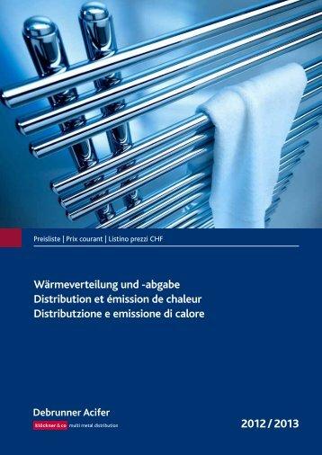 Distribution et émission de chaleur 2012/2013