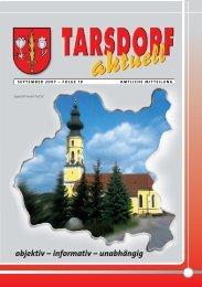 SEPTEMBER 2007 - Tarsdorf