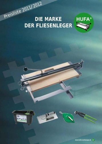 Die Marke Der Fliesenleger - HUFA-Vertrieb Werkzeugfabrik ...
