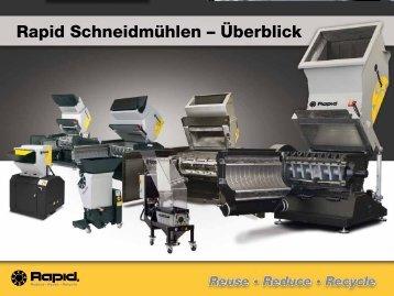 Rapid Schneidmühlen – Überblick - Rapid Granulator