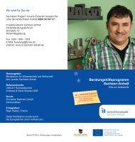 Beratungshilfe- Programm - Investitionsbank Sachsen-Anhalt