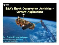 ESA's Earth Observation Activities – Current Applications