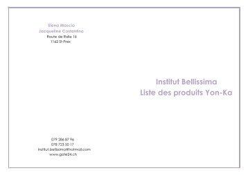 Liste prix Produits - Gate24.ch