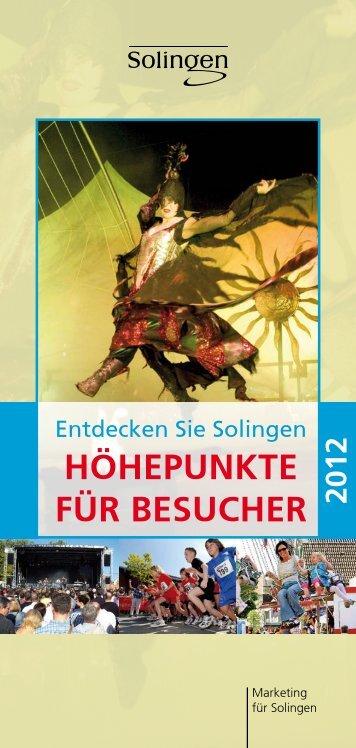 HÖHEPUNKTE FÜR BESUCHER - Die Bergischen Drei