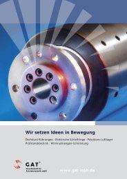 GAT Image-Broschüre - Drehdurchführungen, Schleifringe ...