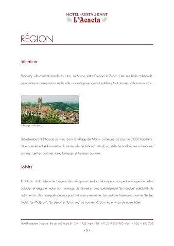 Description de la région - Gate24.ch