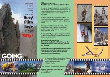 2002 - Bergfilmtage Going - Wilder Kaiser