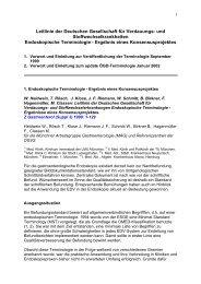 Leitlinie der Deutschen Gesellschaft für Verdauungs- und ... - DGVS