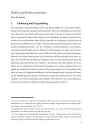 Wahlen und Rechtsextremismus - Kai Arzheimer