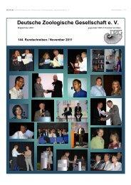 144. eRundschreiben November 2011 - Deutsche Zoologische ...