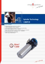 Spindle Technology - schmoll asia pacific