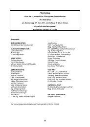 98 PROTOKOLL über die 14. ordentliche Sitzung des ... - RiS GmbH