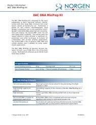 BAC DNA MiniPrep Kit
