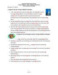 1 Lösungen 10. Lektion 1. Ergänzen Sie die richtigen Adjektiv ...