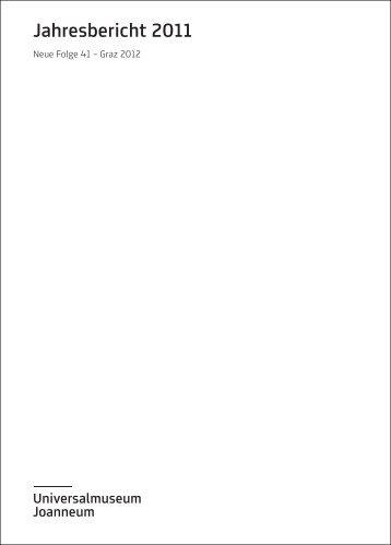 Jahresbericht 2011 - Universalmuseum Joanneum