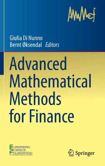 Oskendal, di Nunno: Advanced Mathematical Methods for Finance