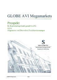 GLOBE AVI Megamarkets - Security KAG