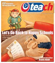 Let's Go Back to Happy Schools - Tennessee Education Association