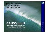 Was ist ein Clean Ship - GAUSS mbH