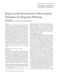 Progress in the Development of Microscopical Techniques for ...