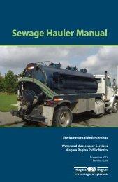 Sewage Hauler Manual - Regional Municipality of Niagara