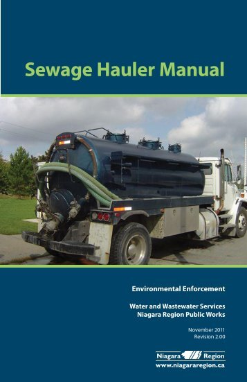 Sewage Hauler Manual - Regional Municipality of Niagara