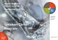 Speakers Corner Program - World Medtech Forum Lucerne