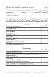 4.3 Checkliste zur Erfassung früher Symptome des Autismus