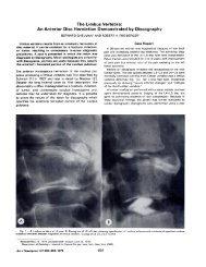 The Limbus Vertebra: An Anterior Disc Herniation Demonstrated by ...