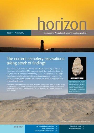 Download Horizon newsletter Issue 8, Winter 2010 ... - Amarna Trust