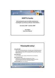 KERTTU-hanke Yhteistyöllä tehty! - Gaia