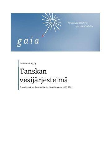 Tanskan vesijärjestelmä - Gaia
