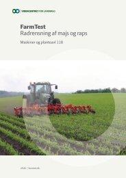 FarmTest Radrensning af majs og raps - LandbrugsInfo
