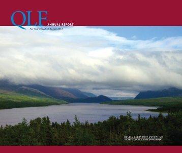 ANNUAL REPORT - Quebec-Labrador Foundation