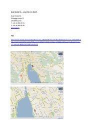 Gaia Global SA Plan Buero Zuerich