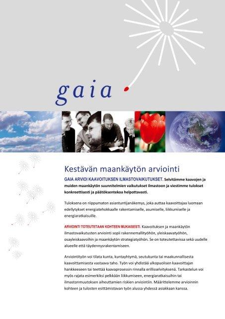 Kaavoituksen ilmastovaikutusten arviointi - Gaia