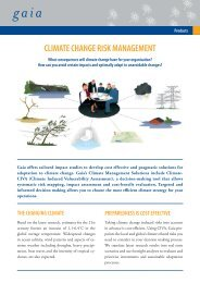 CLIMATE CHANGE RISK MANAGEMENT - Gaia