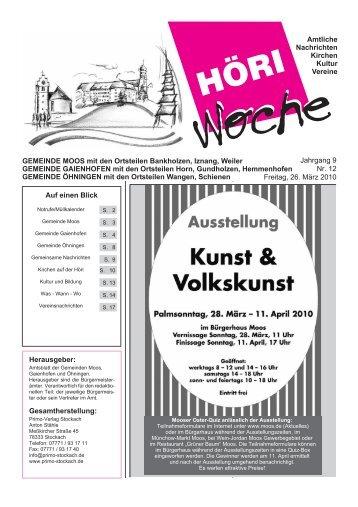 Freitag, 14. Januar 2005 1 Jahrgang 9 Nr. 12 Freitag ... - Gaienhofen