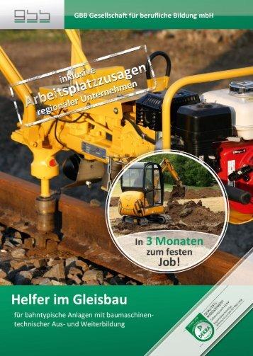 Helfer im Gleisbau - GBB mbH