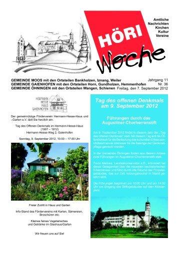 Tag des offenen Denkmals am 9. September 2012 - Gaienhofen