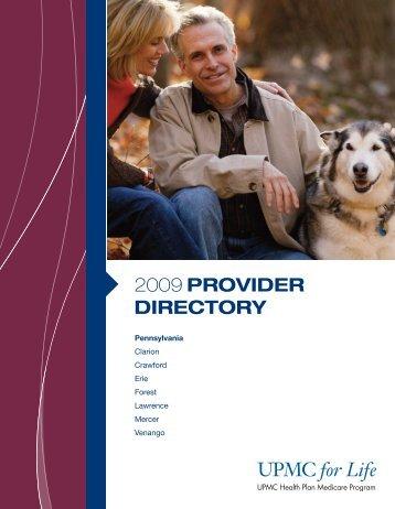 2009 PROVIDER DIRECTORY - UPMC Health Plan
